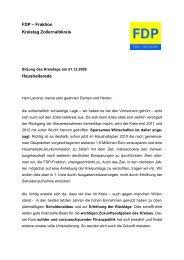 FDP – Fraktion Kreistag Zollernalbkreis Haushaltsrede - FDP Balingen