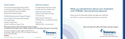 What you should know about your treatment with TORISEL - PfizerPro