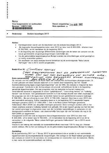 Analyse bouwleges 2012.pdf - Raads - gemeente Hellendoorn