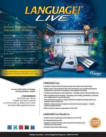 Language! Live Order Form - IAASE