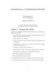 Datenbanken I, Uebungsblatt 2 - Goethe-Universität