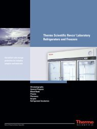 Thermo Scientific Revco® Laboratory Refrigerators and Freezers