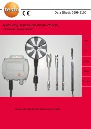 Data Sheet: 0699 5100 Measuring Transducer for Air Velocity