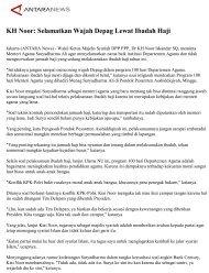 KH Noor: Selamatkan Wajah Depag Lewat Ibadah Haji