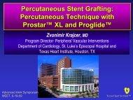 Percutaneous Stent Grafting - MEET CONGRESS