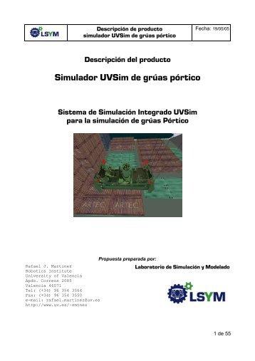 Simulador UVSim de grúas pórtico - Instituto de Robotica