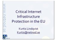 Critical Internet Infrastructure Protection in the EU - TREX - Tampere ...