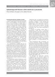 ITALIAN JOURNAL OF PUBLIC HEALTH Epidemiologia dell ... - Ijph.it