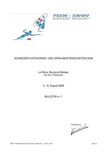 SCHWEIZER KATEGORIEN - Fédération Suisse de Ski nautique et ...