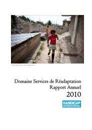 Rapport Annuel Domaine Services de Réadaptation 2009