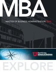 Full-Time MBA Brochure - University of Utah
