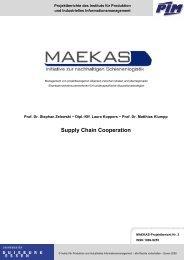 Supply Chain Cooperation - MAEKAS - Universität Duisburg-Essen