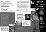 Download Southwell Poetry Festival 2009 Leaflet pdf