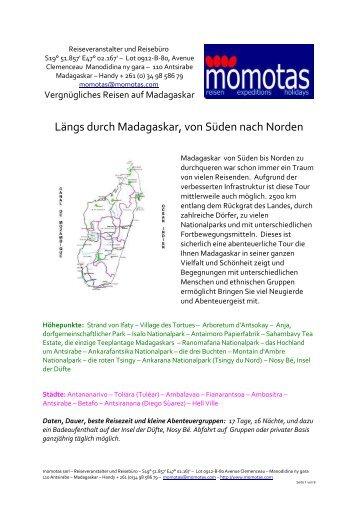 Längs durch Madagaskar, von Süden nach Norden - momotas ...