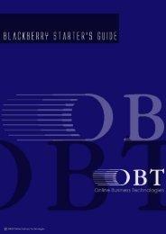 BlackBerry Starter's Guide - OBTs