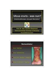 Ulcus cruris - was nun? - IVF Hartmann AG