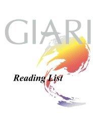 GIARI Reading List - Global Institute for Asian Regional Integration ...