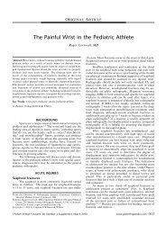 The Painful Wrist in the Pediatric Athlete