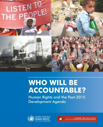 Who Will Be Accountable? - Center for Economic and Social Rights