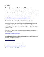 Grants (and Loans) available to small businesses. - Erie County