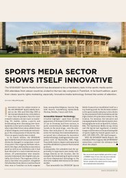 SPORTS MEDIA SECTOR SHOWS ITSELF INNOVATIVE - SPONSORs