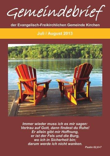 Juli / August - EFG-Kirchen