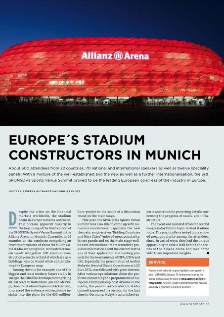EUROPE´S STADIUM CONSTRUCTORS IN MUNICH - SPONSORs