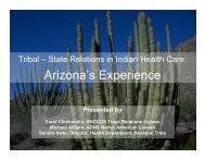 Tribal-State Relations in Indian Health Care: Arizona's ... - AHCCCS