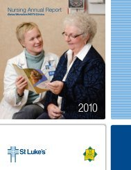 2010 Nursing Annual Report - St. Luke's