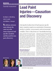 Lead Paint Injuries—Causation and Discovery - DRI Today