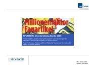 SPONSORs Merchandising Studie 2008