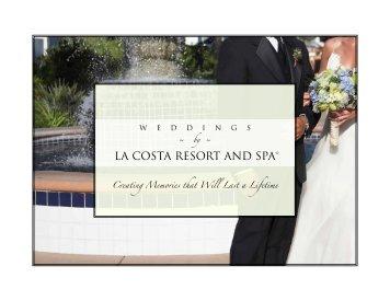 Wedding Menus - La Costa Resort and Spa