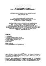 Erfassung und Bewertung der wirtschaftlichen Effekte ... - SPONSORs