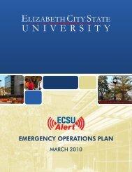 Emergency Operation Plan - Elizabeth City State University