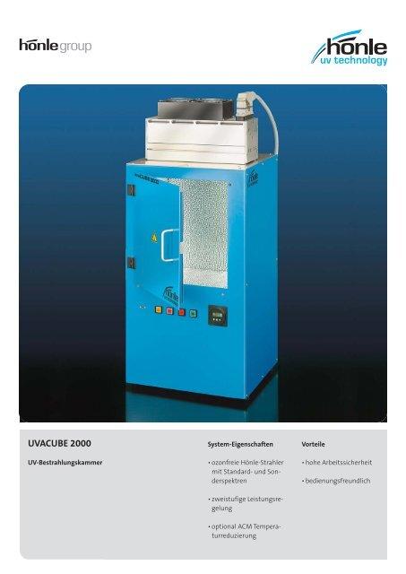 Produktinformation UVACUBE 2000 - Dr. Hönle AG