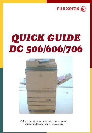Fuji Xerox Document centre 286 Manual