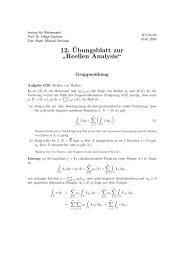 """12.¨Ubungsblatt zur """" Reellen Analysis"""""""