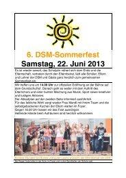 6. DSM-Sommerfest Samstag, 22. Juni 2013 - Deutsche Schule ...