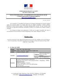 Coordonnées des élus- mars 2011 - Ambassade de France au Japon