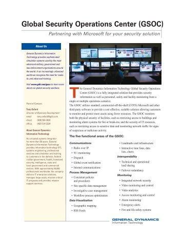 GSOC/Microsoft Fact Sheet - General Dynamics Information ...