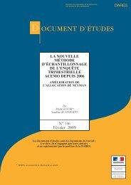 DE2009-146 - La nouvelle méthode d'échantillonnage de l'enquête ...