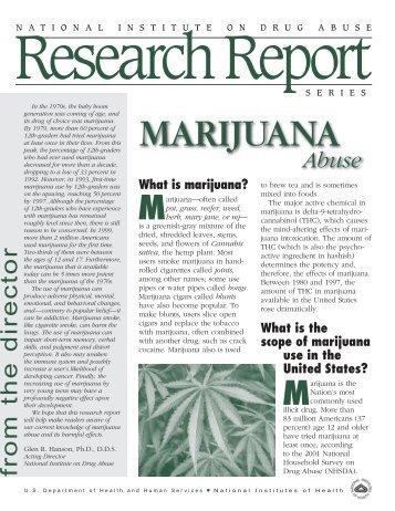 1 NIDA RRS Marijuana - Medical Marijuana ProCon.org