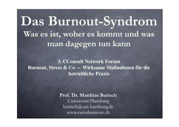 Prof. Dr. Burisch - CConsult