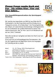 Flower Power meets Rock and Pop - Bayerische Sportjugend BSJ ...