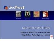 Registration Authority Training - GeoTrust