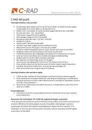Bokslutskommuniké 2012 C-RAD AB (publ)