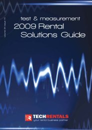 2009 Rental Solutions Guide - Tech-Rentals