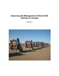 Improving The Management Of End-of-life Vehicles - Canadian ...