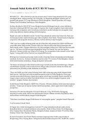 Jemaah Suluk Kritis di ICU RS M Yunus