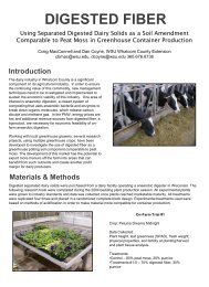 The Use of Separated Digested Dairy Solids as a Soil Amendment